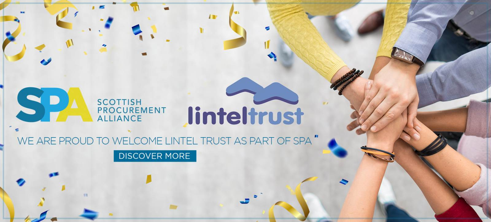 <p>Lintel Trust has joined the LHC group as part of the Scottish Procurement Alliance to secure a future in supporting Scottish communities!</p>