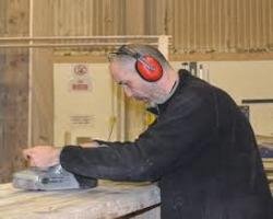 peter working with wood