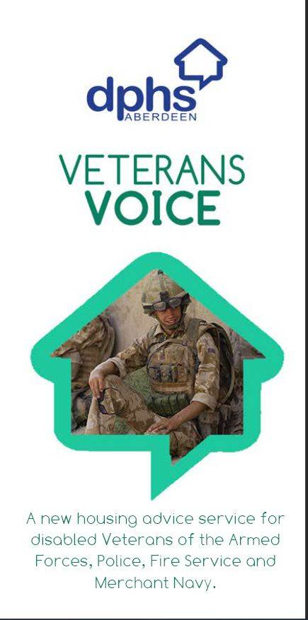 Veterans Voice front page featuring a soldier and brief description of service