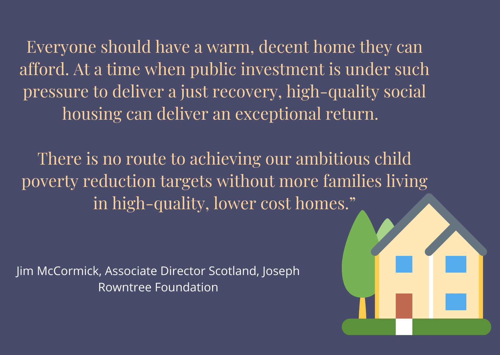 Quote about housing Jim McCormick